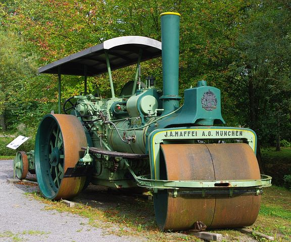 Pixabay image of steamroller