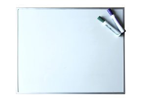 Empty white board